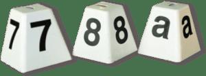 Hindernumrering hindermaterial